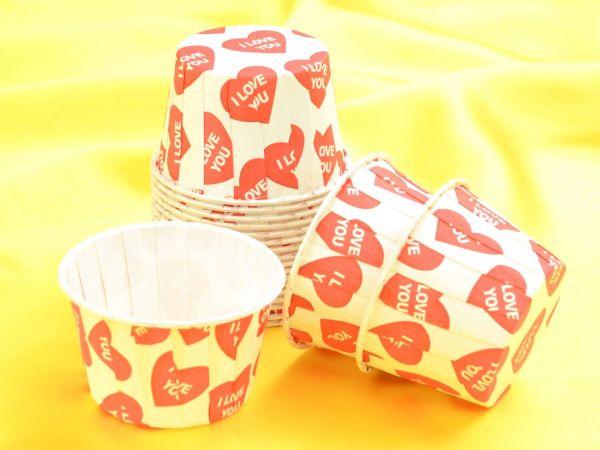 Cupcake Becher I Love You 20 Stück