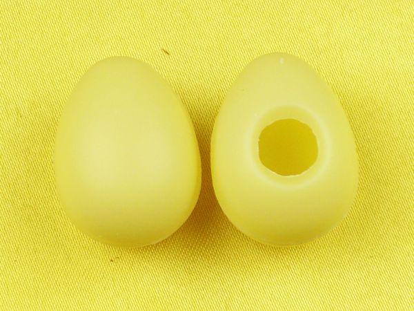 1 Folie Hohlkörper Mini-Eier Weiß