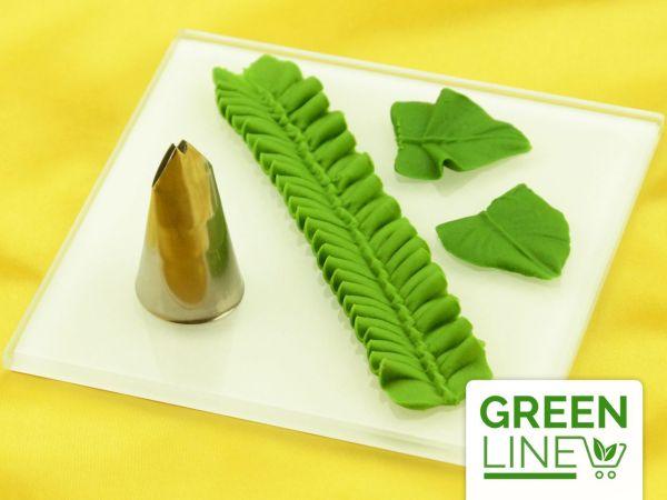 Garniertülle Blatttülle klein 14mm x 2mm GREENLINE