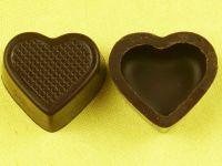 1 Folie Herzschalen Zartbitter