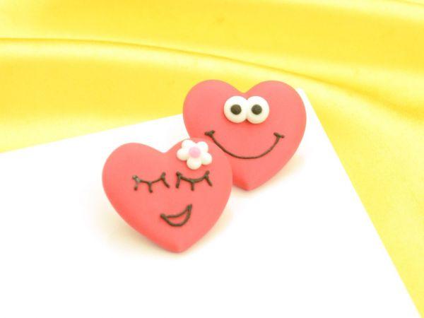 Herz mit Gesicht Zucker 90 Stück