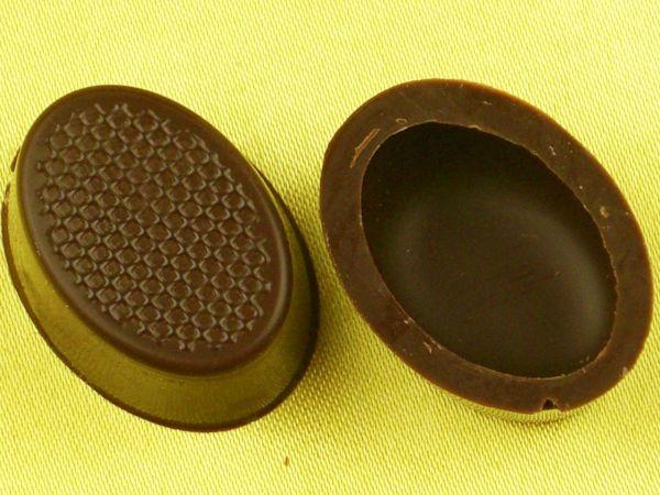 1 Folie Oval-Schalen Zartbitter