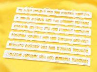 Buchstaben-Ausstecher Set Funky Kunststoff