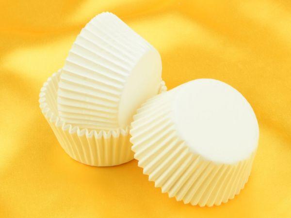 Muffinkapseln 50mm weiß 60 Stück