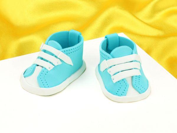 Feinzucker Babyschuhe blau