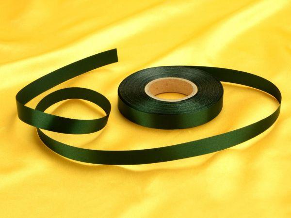 Satinband waldgrün 14mm, 30 Meter