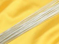 Blumendraht metallic silber 24G 50 Stück