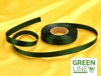 Satinband waldgrün 14mm, 30 Meter GREENLINE