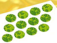 Cupcake Buttons Pflanzen grün 12 Stück