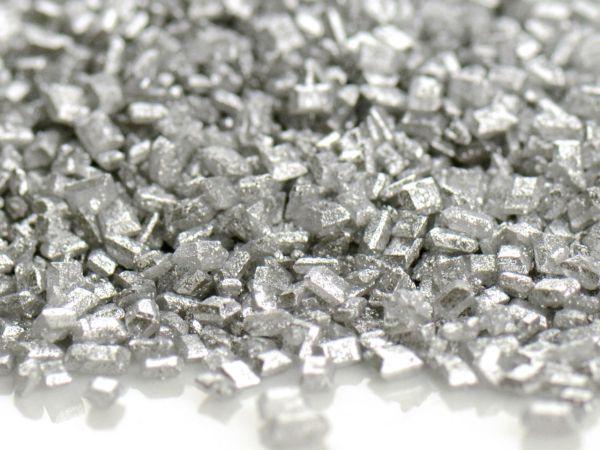 Glimmer Zucker silber 100g