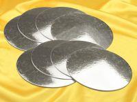Silver Plate 20cm silber glänzend 8 Stück