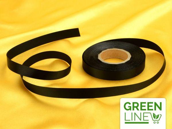 Satinband schwarz 14mm, 30 Meter GREENLINE
