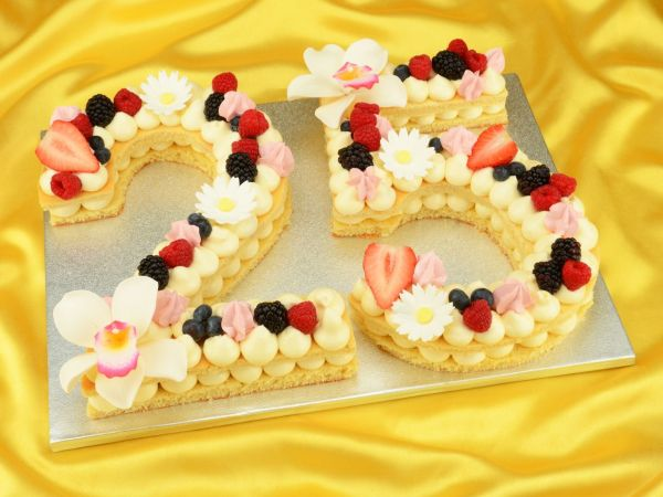 Number Cream Cake Set