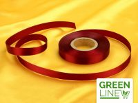 Satinband bordeaux 14mm, 30 Meter GREENLINE