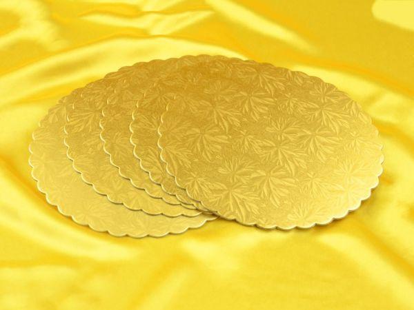 Cakeboard 22cm gold 5 Stück