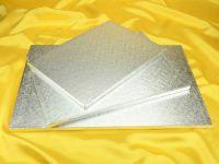 Cakeboard rechteck 51x36cm silber 5 Stück