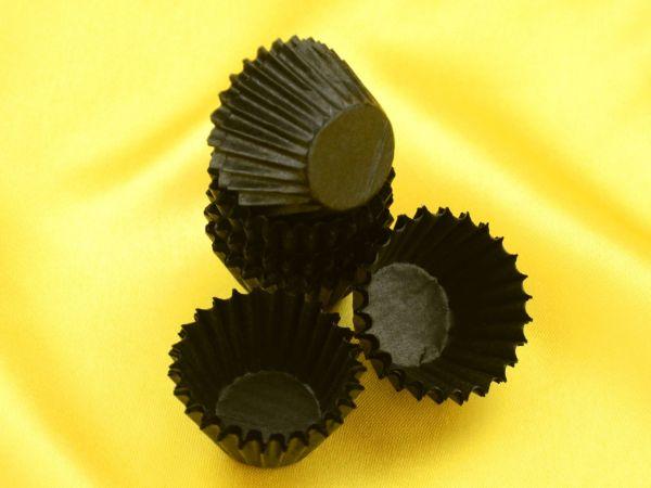 Pralinenkapseln 25mm schwarz 100 Stück