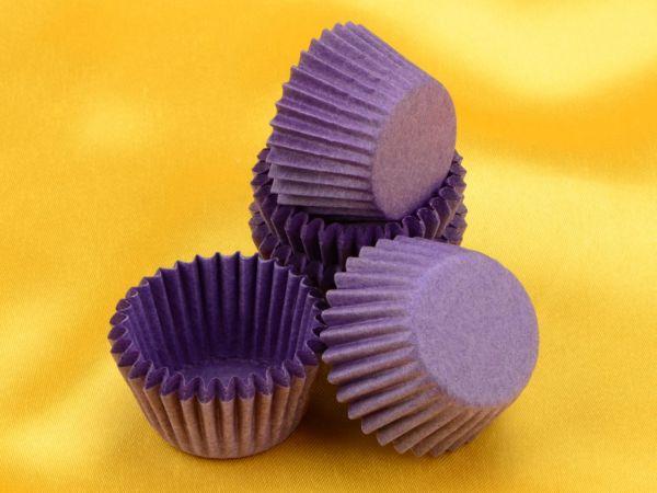 Pralinenkapseln 25mm violett 100 Stück