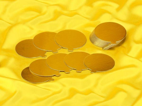 Golden Plate mit Griff 9cm gold glänzend 20 Stück