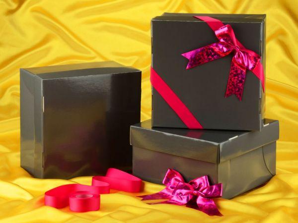 Tortenkarton graphit 41cm 3er Set mit Schleifenset pink