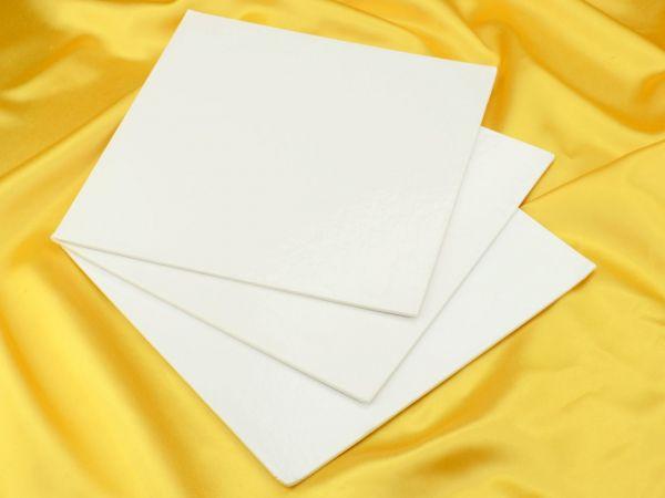 Cakecard quadrat 25cm weiß3 Stück
