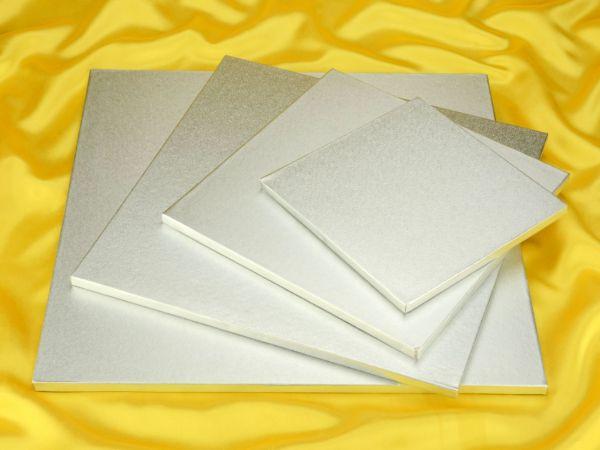 Cakeboard quadrat 28cm silber