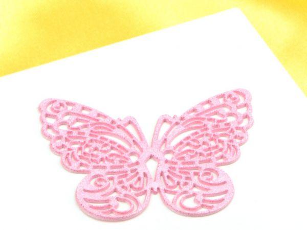 Spitzendekor Butterfly rosa