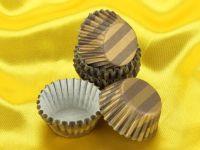 Pralinenkapseln 25mm mocca-gold 100 Stück