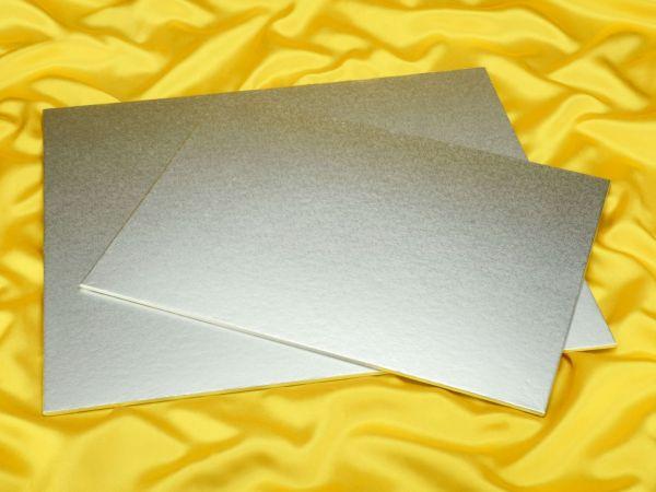 Cakeboard rechteck 46x40cm silber 4mm