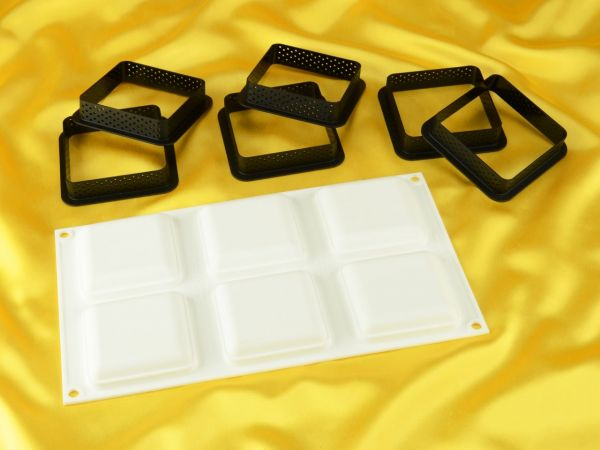 Silikonform Tarteform Quadrat