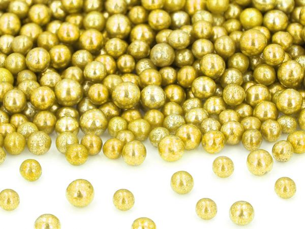 Goldperlen groß, Zucker 50g