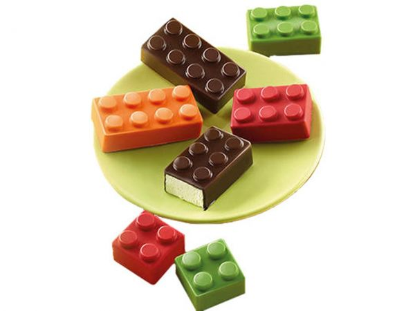 Silikonform Choco Block