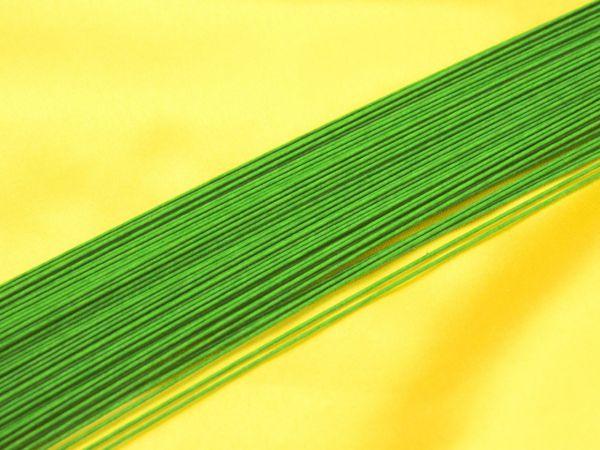Blumendraht grün 24G 100 Stück