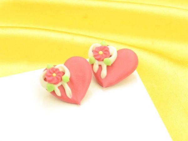 Herzen rot Zucker 4 Stück