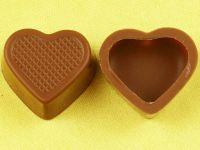 1 Folie Herzschalen Vollmilch