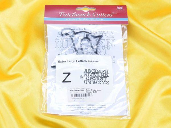 Patchwork Cutters großer Buchstabe Z