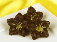 1 Folie Schokoladen-Blüten Zartbitter