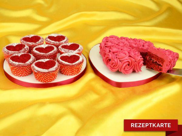 Red Velvet Herz-Variationen