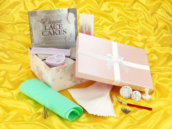Geschenkset Elegant Lace Cakes