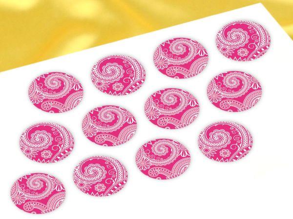 Cupcake Buttons Indisch pink 12 Stück