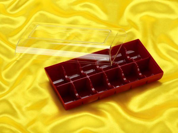 Macaron Verpackung 12er ruby