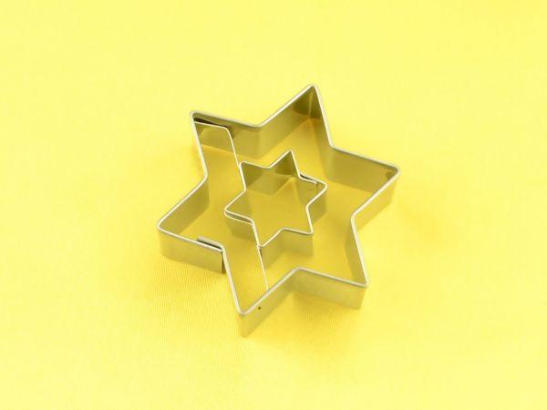 Ausstecher Stern mit Stern 4,5cm