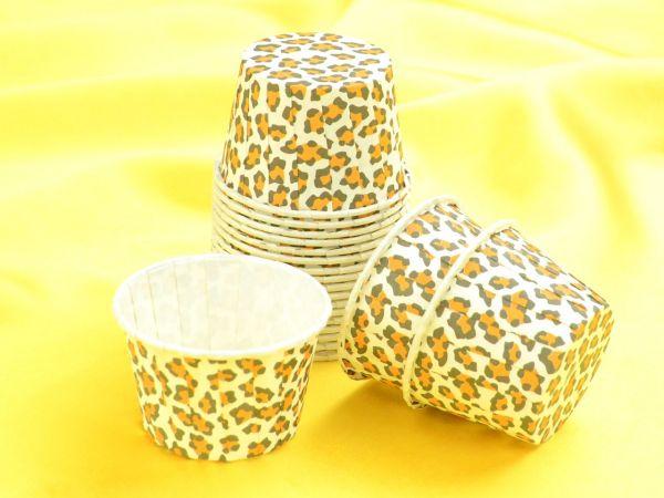 Cupcake Becher klein Leopard 20 Stück