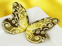 1 Folie Schokoladen-Schmetterlinge Zartbitter
