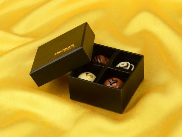 Chocolate Case Handmade für 4 Pralinen