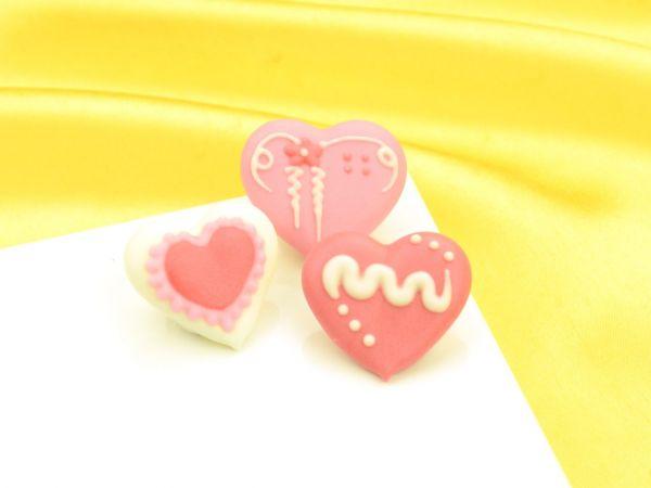 Herzen weiß-rosa-rot Zucker 96 Stück