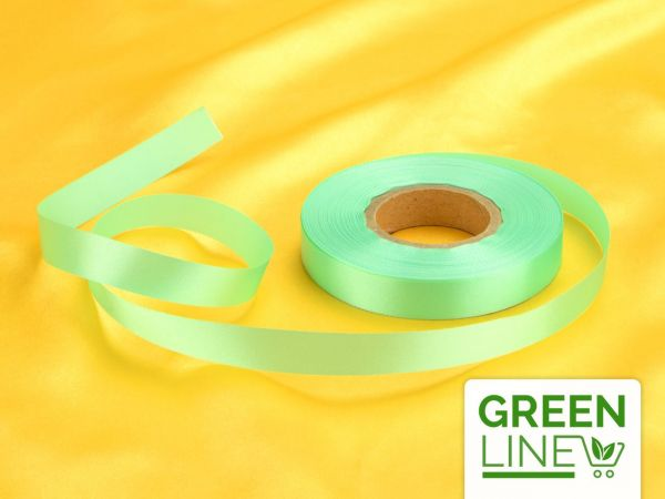 Satinband mintgrün 14mm, 30 Meter GREENLINE
