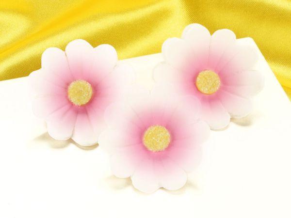 Blumen 40mm rosa Zucker 6 Stück