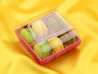 Macaron Verpackung fuchsia 6er