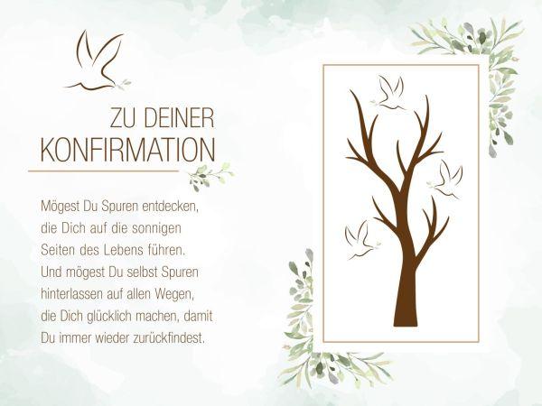 Tortenaufleger Konfirmation Baum 20x30cm